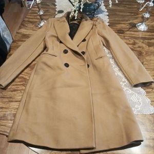 Zara wool blended manteco double breast coat